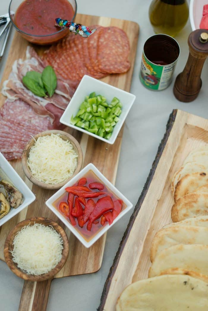 Flatbread Pizza Bar with Easy Pizza Sauce