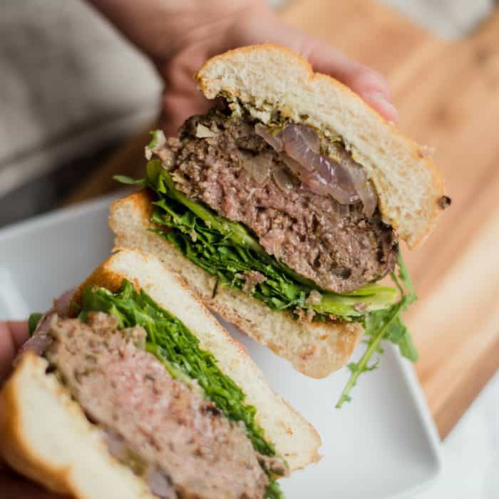 Take a bite: Mint Lamb Burgers with Fig