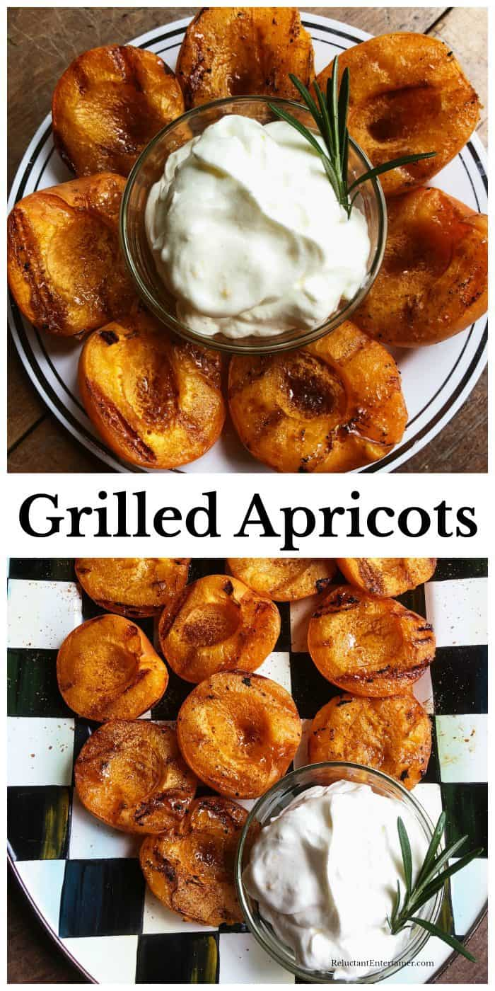 Grilled Apricots with Sweet Cream Recipe