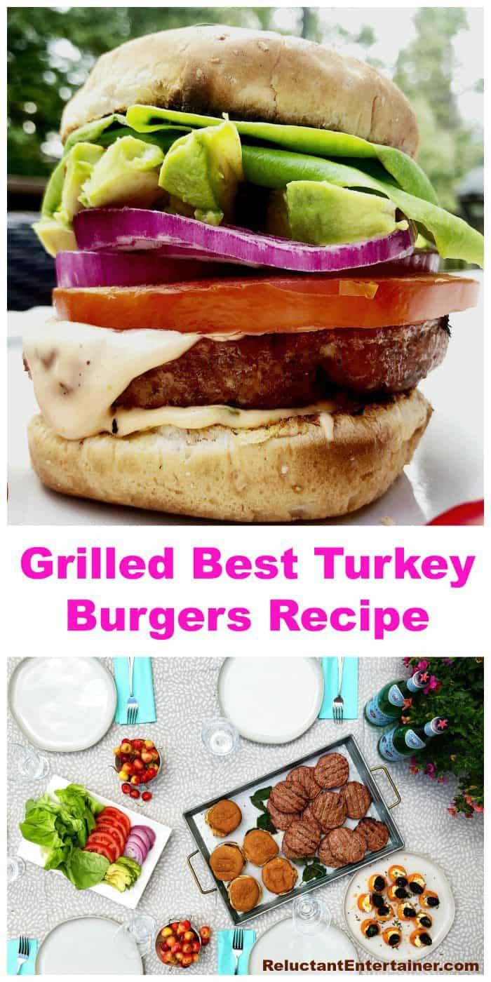 Grilled Best Turkey Burgers