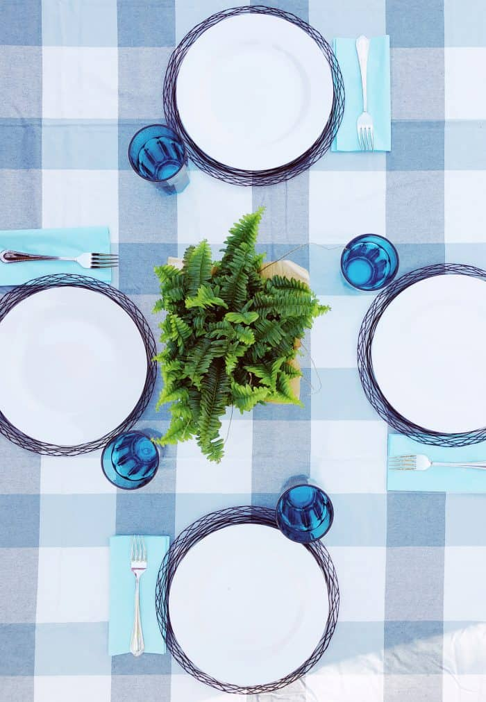 Summer Table with fern