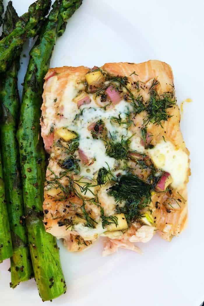 The BEST Lime-Dill Shallot Grilled Salmon Recipe