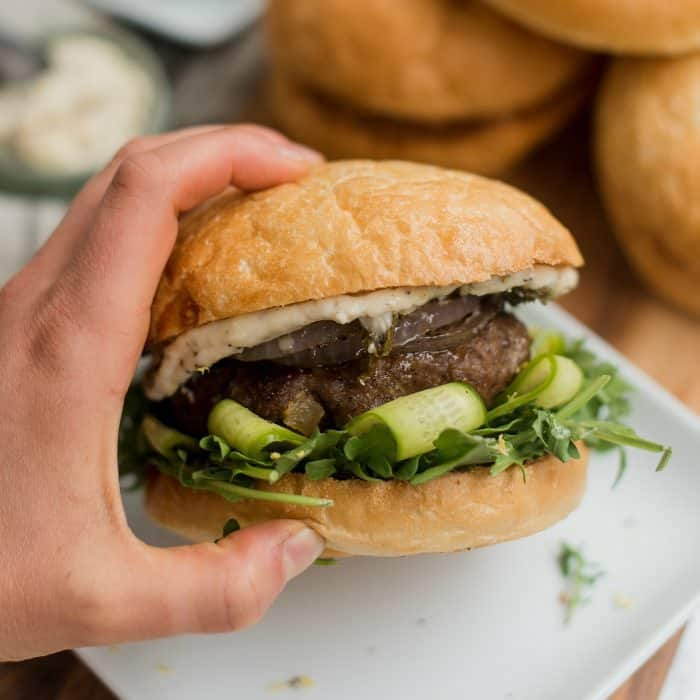 YUMMY Mint Lamb Burgers with Fig