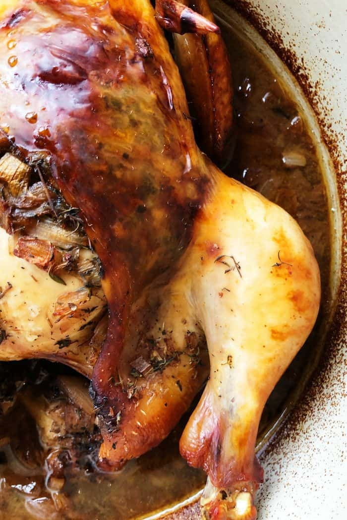 Fabulous Roasted Balsamic Whole Chicken Recipe