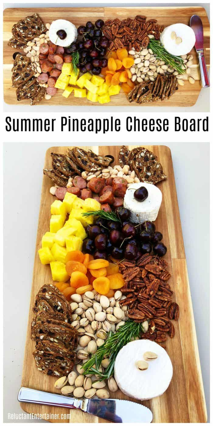 Summer Pineapple Cheese Charcuterie Board Recipe