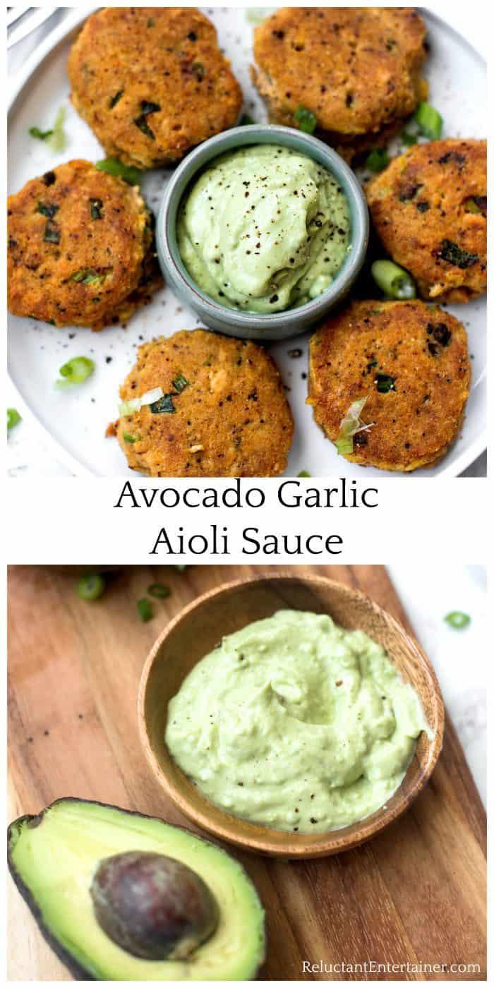 Avocado Garlic Aioli Sauce