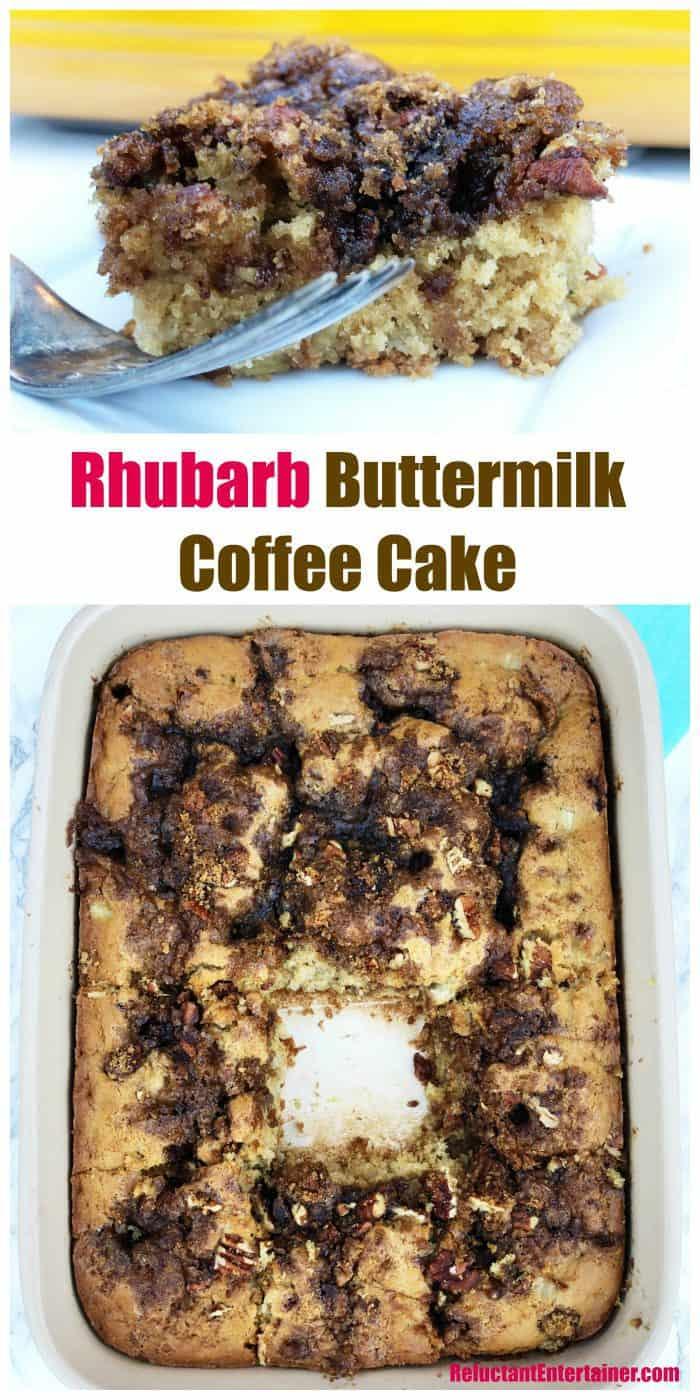 Rhubarb Buttermilk Coffee Cake Recipe