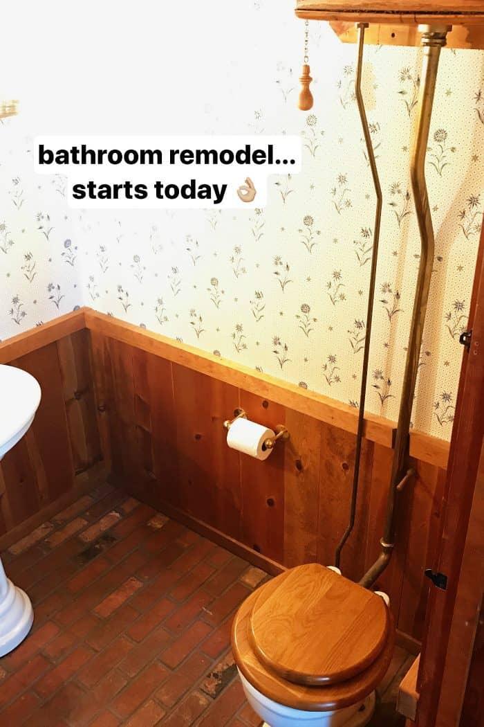 DIY Mountain Home Bathroom Remodel - high tank toilet