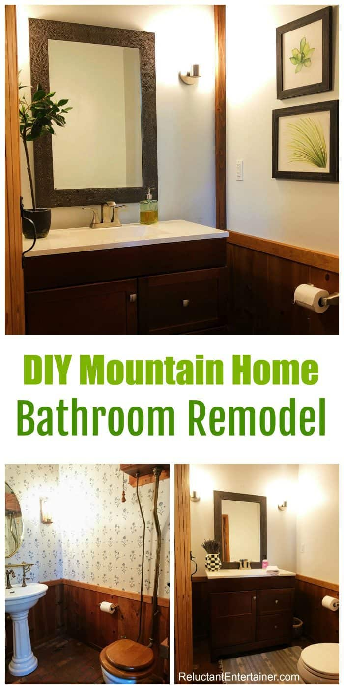 Final Reveal: DIY Mountain Home Bathroom Remodel