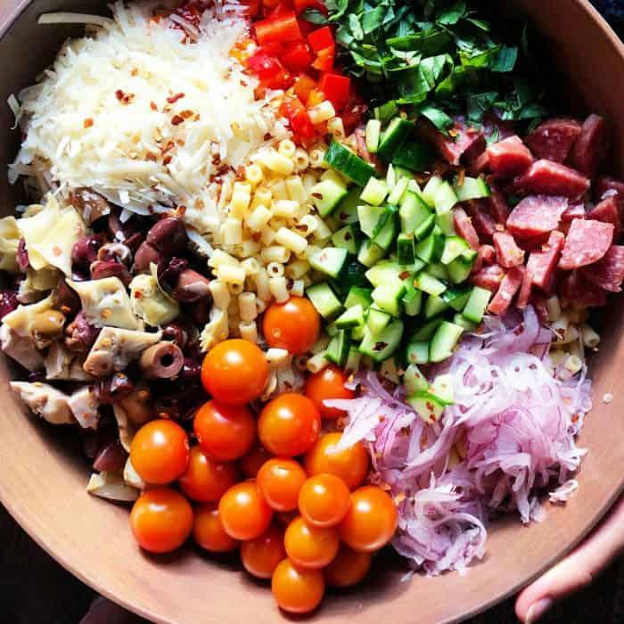Easy Italian Pasta Salad Recipe for summer