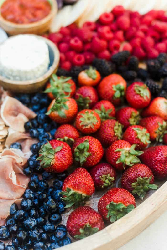 How to Make an Epic July 4th Charcuterie Board - berries