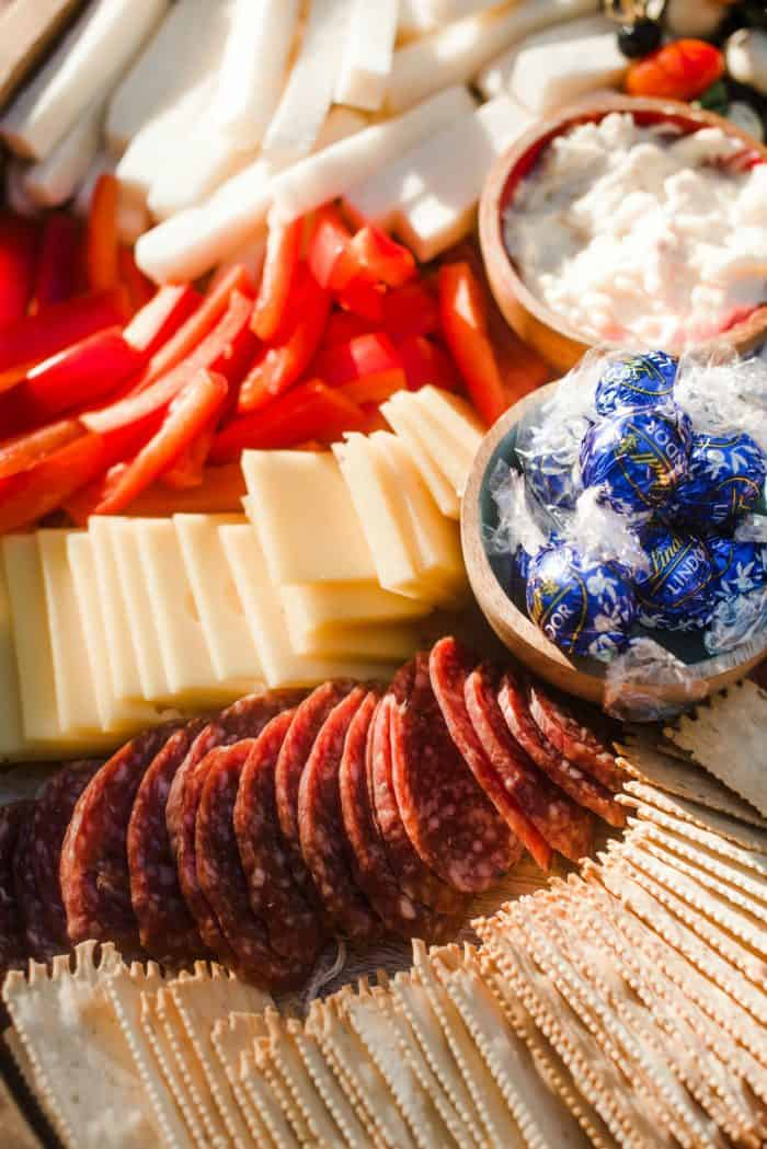 How to Make an Epic July 4th Charcuterie Board - Lindt chocolate