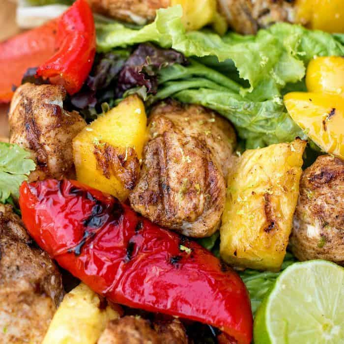 Delicious Pineapple Mango Grilled Chicken Skewers