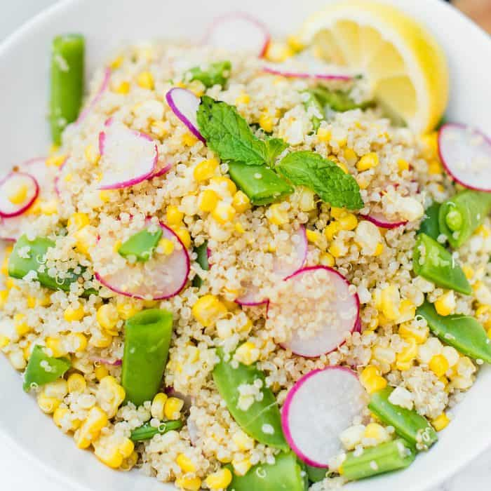 Fresh Quinoa Radish Corn Salad Recipe