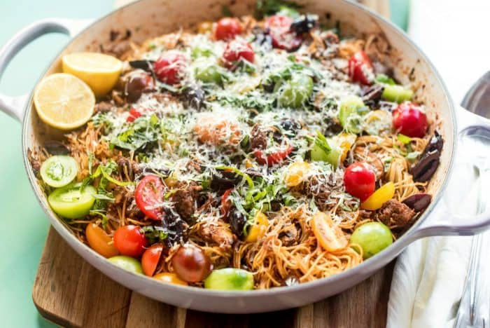 EASY Summer Pasta with Bolognese Sauce