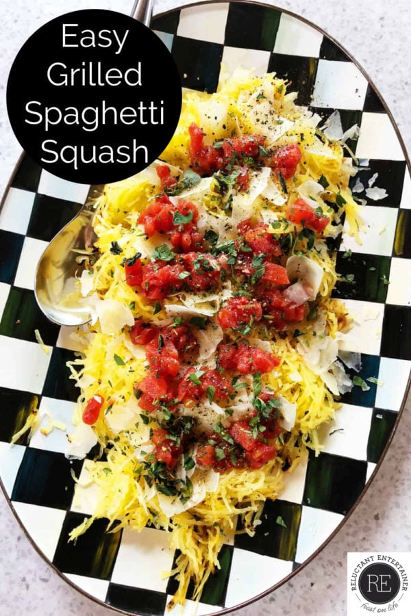 delicious plate of grilled spaghetti squash