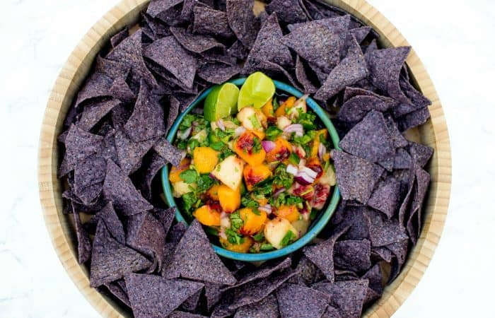 Easy Fresh Peach Salsa With Mint