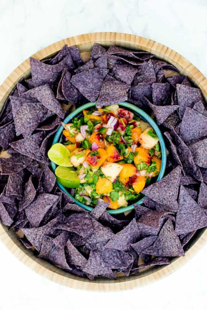 Delicious Fresh Peach Salsa With Mint