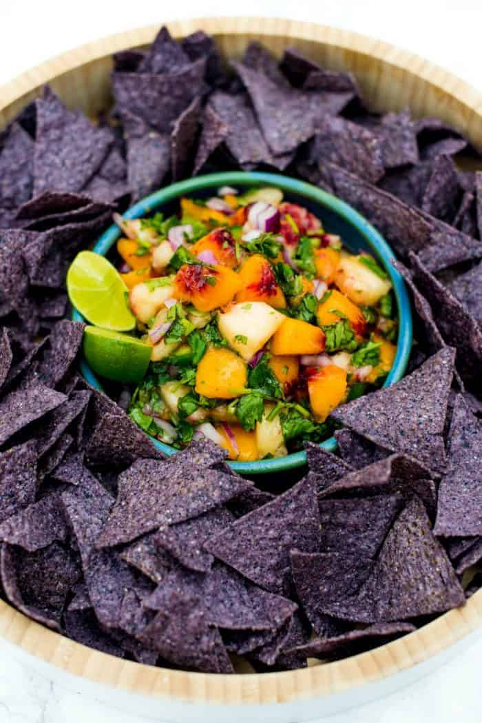 Fresh Peach Salsa With Mint