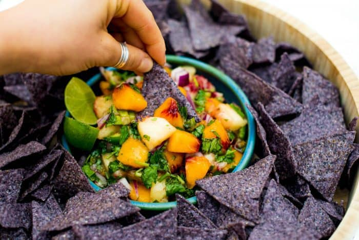 BEST Fresh Peach Salsa With Mint Recipe