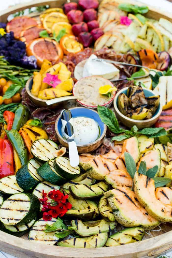 SO GOOD Grilled Fruit Vegetable Charcuterie Board