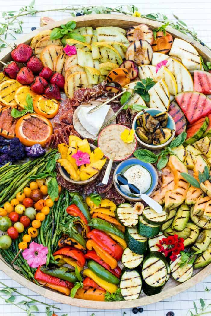 Grilled Fruit Vegetable Charcuterie Board