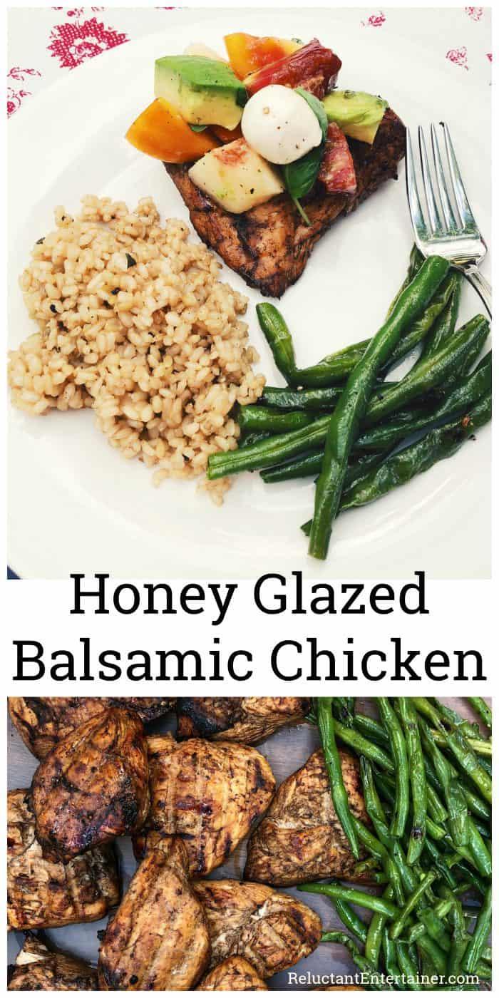 Grilled Honey Glazed Balsamic Chicken Recipe