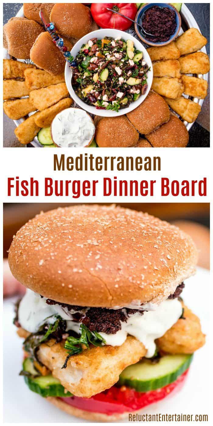 Mediterranean Fish Burger Dinner Board Recipe