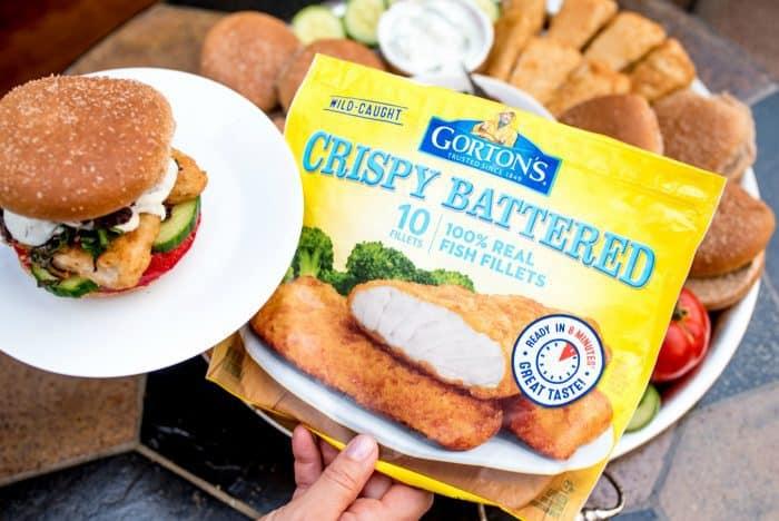 Fish Burger Dinner Board Recipe