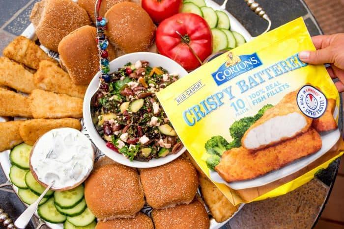 Fish Burger Dinner Board