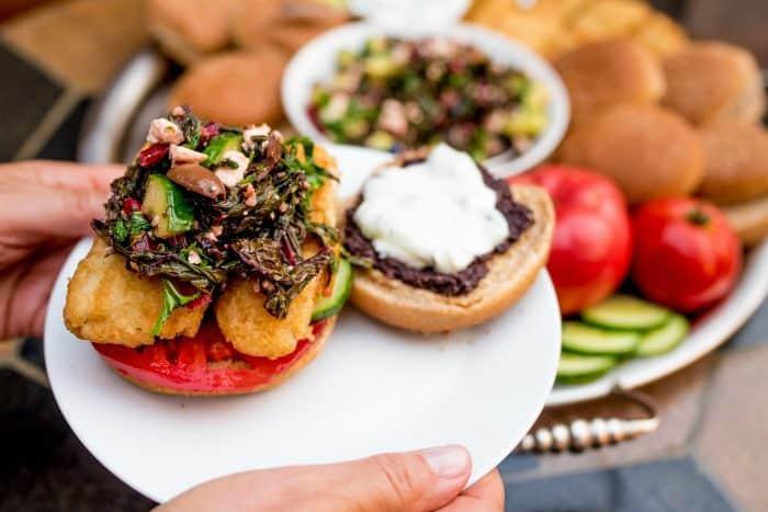Mediterranean Fish Burger