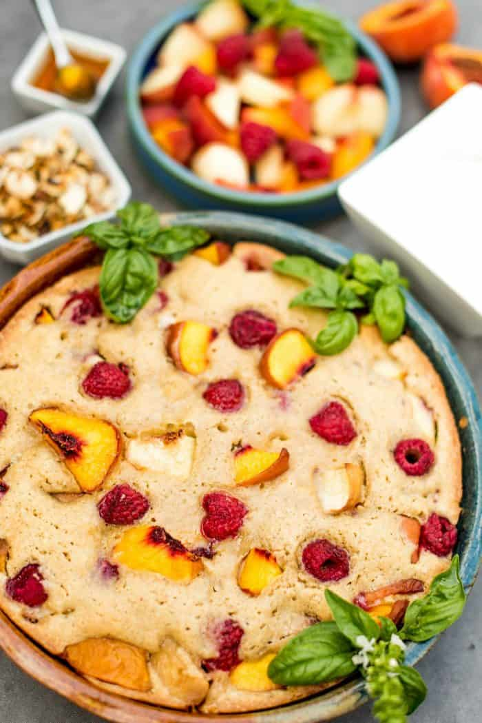 Delicious Olive Oil Peach French Pound Cake
