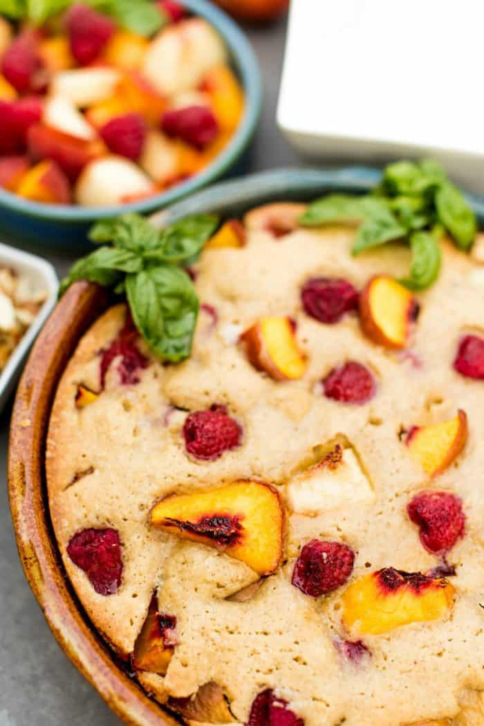 Easy Olive Oil Peach French Pound Cake