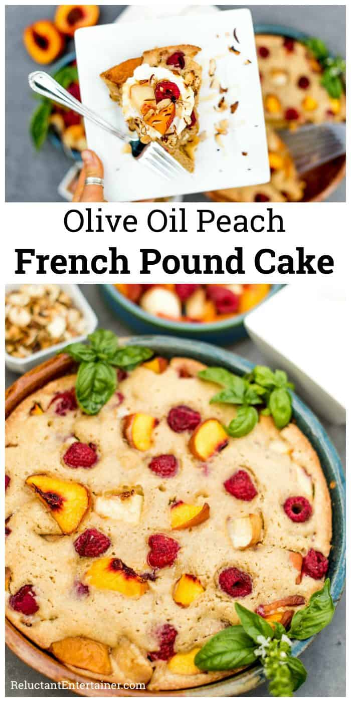 Olive Oil Peach French Pound Cake Recipe