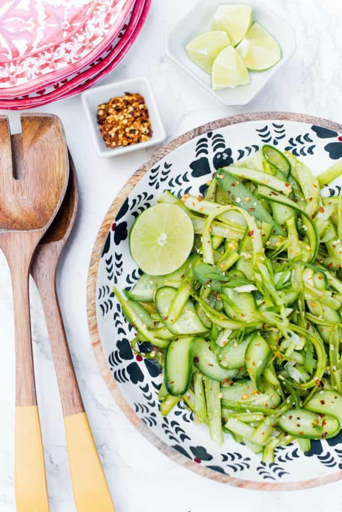 Best Shaved Asparagus Cucumber Sesame Salad