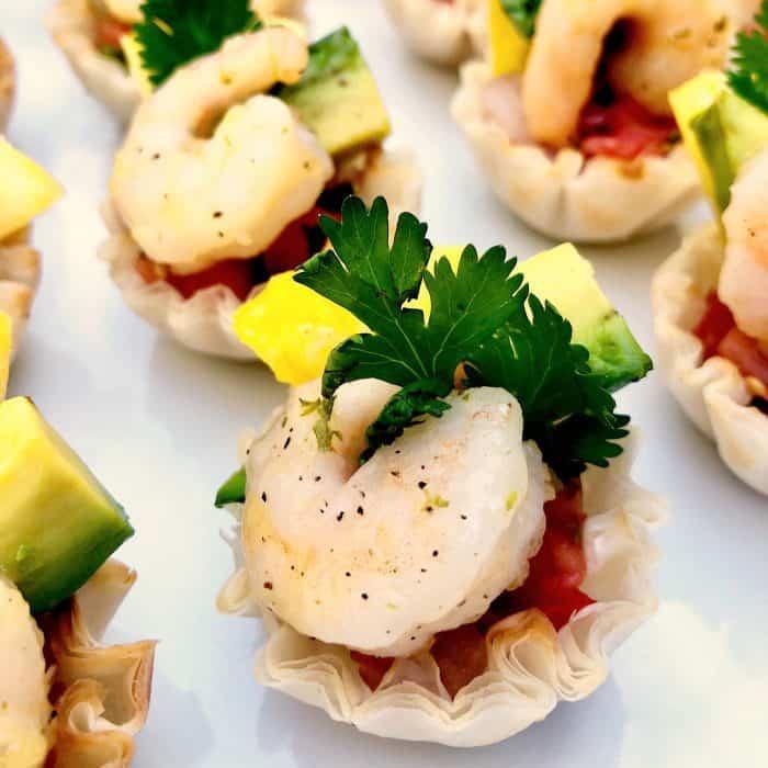 Shrimp Scampi Taco BITE
