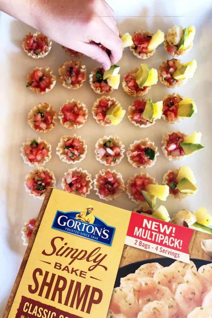 How to make Shrimp Scampi Taco Bites