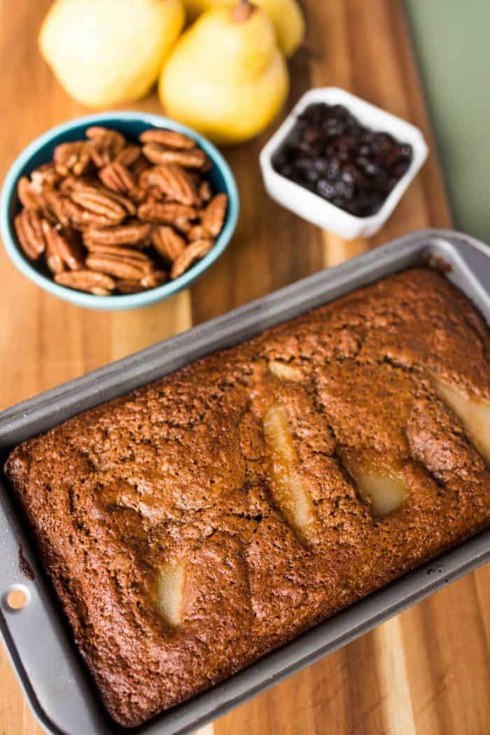 BEST Tart Cherry Banana Pear Bread Recipe