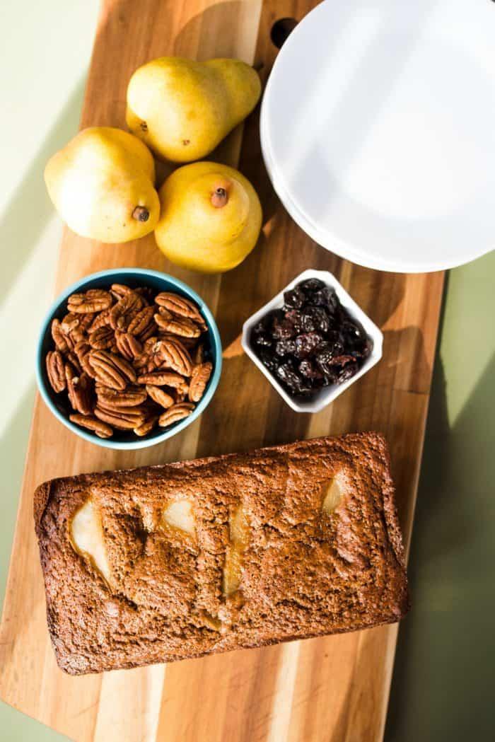 Tart Cherry Banana Pear Bread Recipe