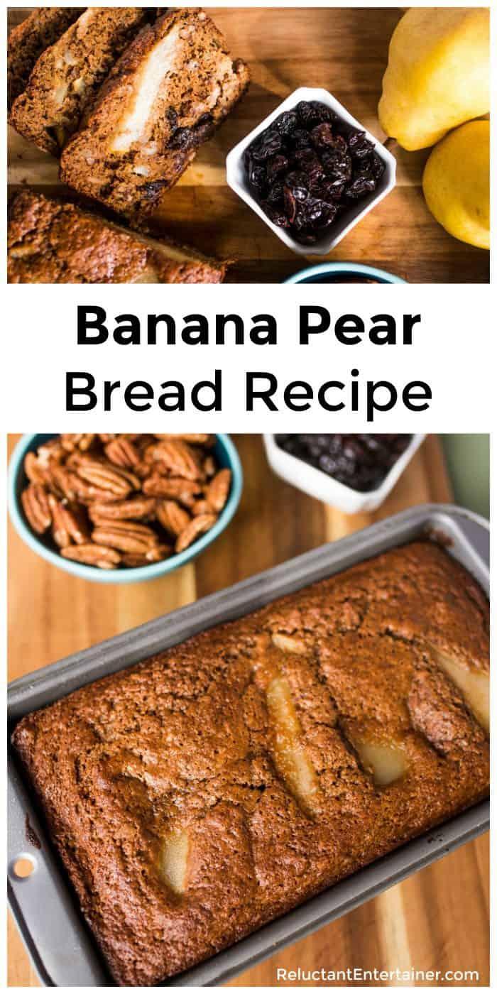 Tart Cherry Banana Pear Bread