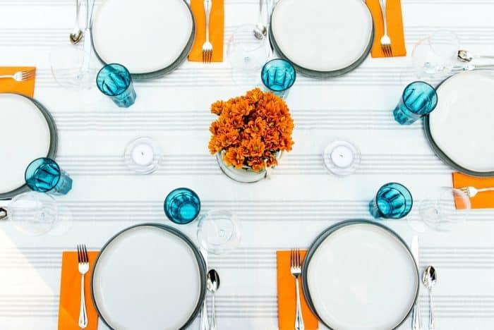 Beautiful Set the Table with Blackberry Lemon Cups Dessert