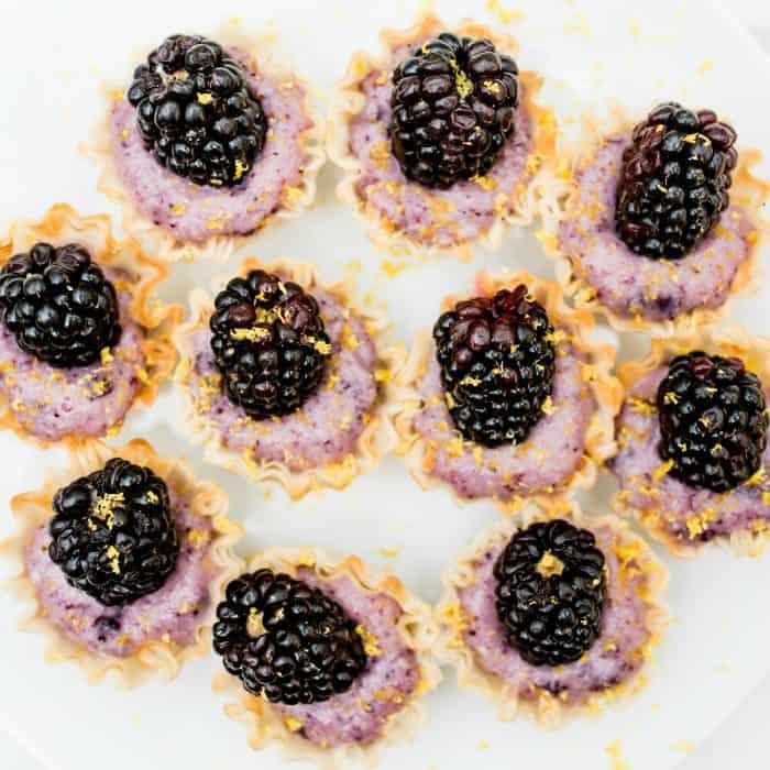 DELISH Set the Table with Blackberry Lemon Cups Dessert