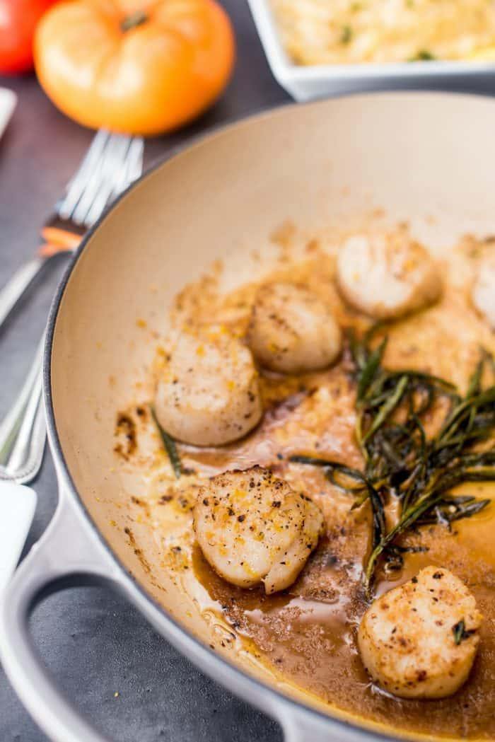 Browned Butter Rosemary Scallops Recipe