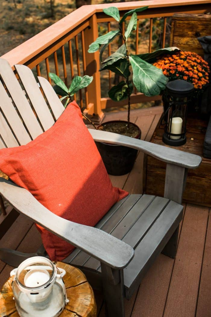 Cozy Outdoor Living Space - pillows for fall