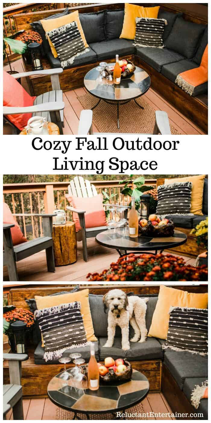 Cozy Outdoor Living Space - for FALL