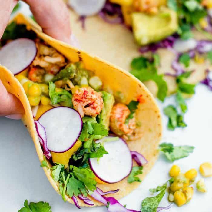Taco Tuesday Lobster Avocado Corn Tacos
