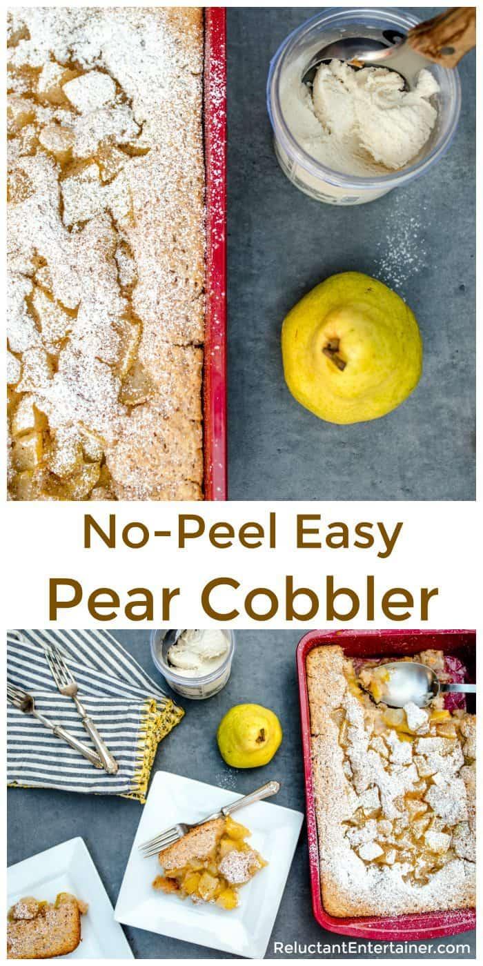No-Peel Easy Pear Cobbler Recipe