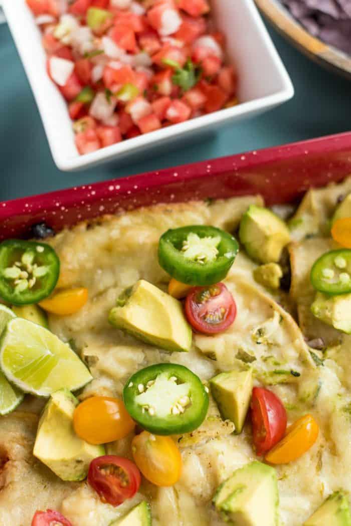 Best Zucchini Cheese Enchiladas Verde Recipe