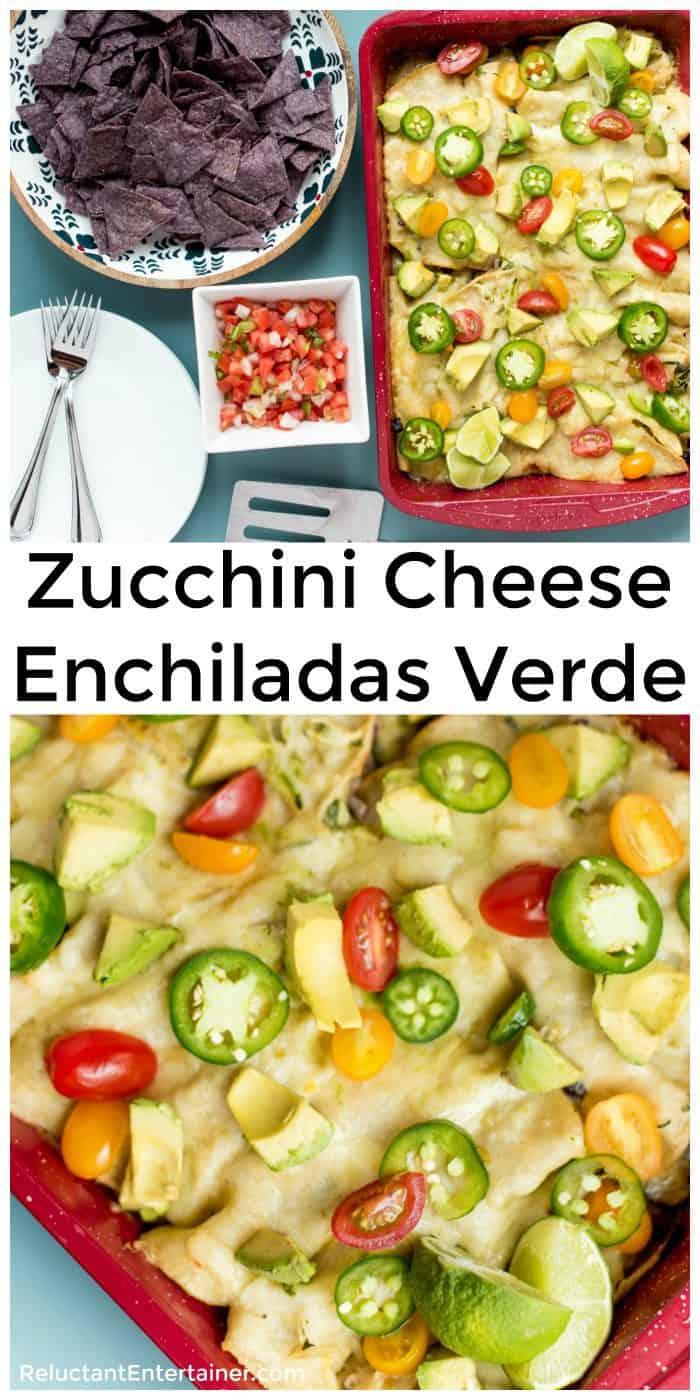 Zucchini Cheese Enchiladas Verde Recipe