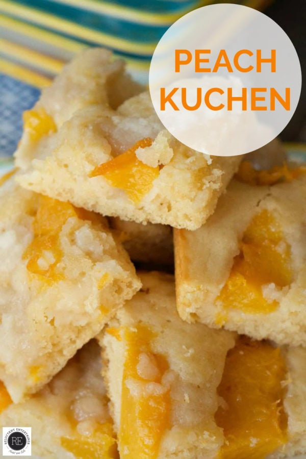 peach kuchen squares